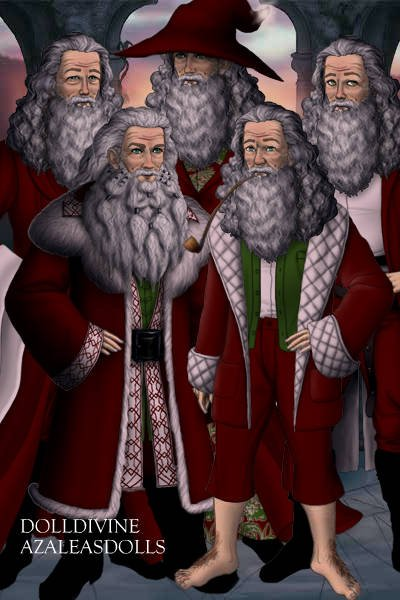 The Santas of Middle Earth ~ Sometimes I worry about my sanity.  Some
