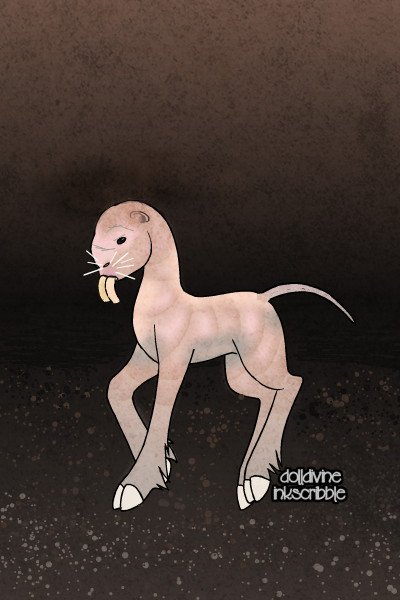 Naked Mole Rat Pony ~ Wow.  So @NeoQueenElyse created a <a hre