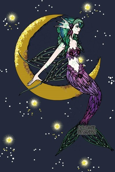 MoonMaid ~ Inspired by many images of mermaids bath