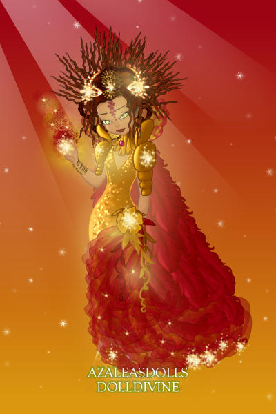 Fiamena - Goddess of Fire ~ Character design for Angel Blackwing's s