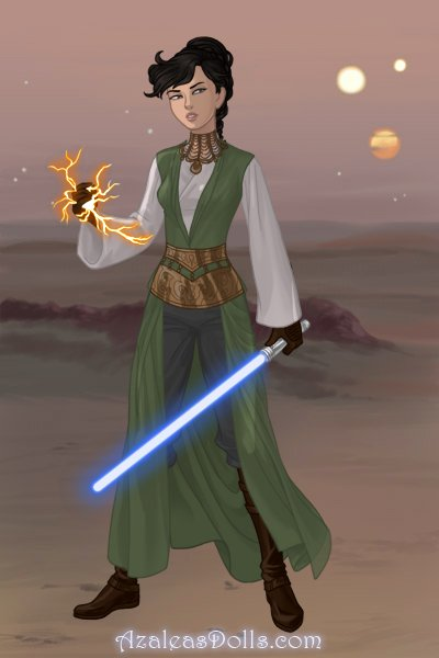 A Jedi warrior can\'t fight with a monot ~ My alternative Jedi outfit. Fun fact, it