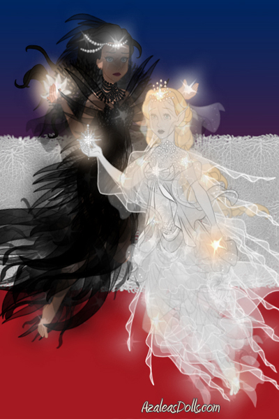 \Follow our light, ye who depart too soo ~ A Morrigan (black) and one of Witte Wiev