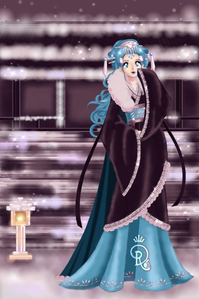 The winter snow arrives, as the wind and ~ Hanfu request for Gwenn of the @2BlueWiz