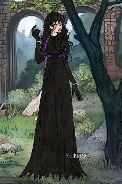 Yennefer of Vengerberg ~ Black and white, lilac and gooseberries.