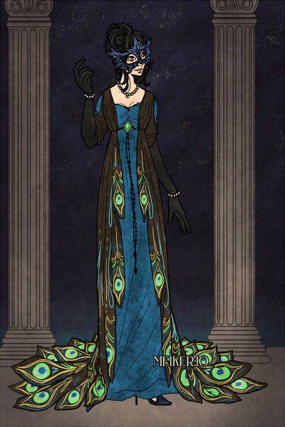 Peacock masque ~ Just love this dress! Alinna usually hat