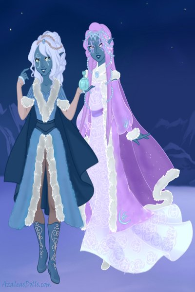 Snow elves on snow queen ~ Because that's the sensible thing to do