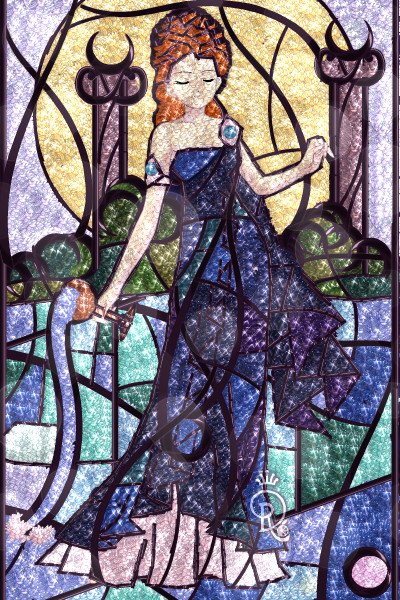 And from her, the waters... ~ Stained Glass for @Sorachan. I tried to