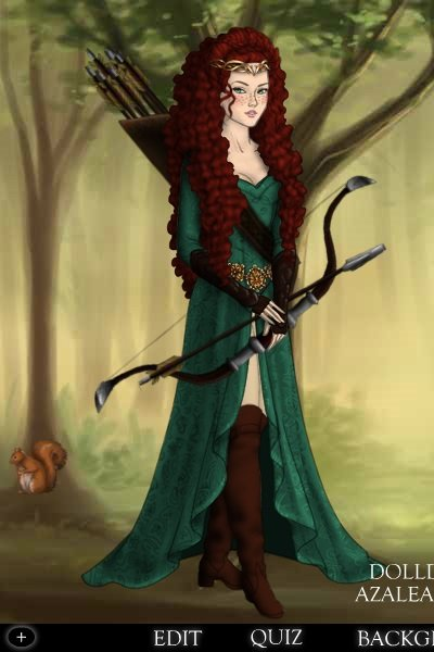 The Independent Lady Merida ~ Merida grows up and never marries. After