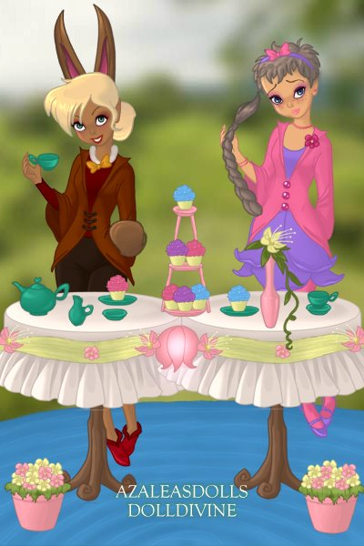 The March Hare & The Dormouse ~ Gender-bent March Hare and the Dormouse