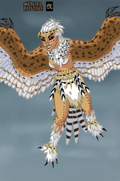 Aello the Harpy ~ In Greek & Roman mythology a harpy is a