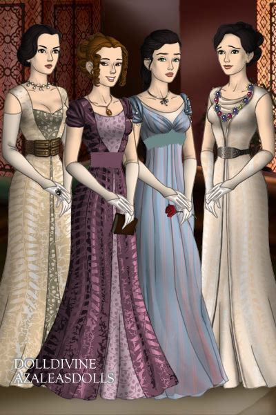 Mary Edith Sybil And Cora From Downton Abbey By Nightowl