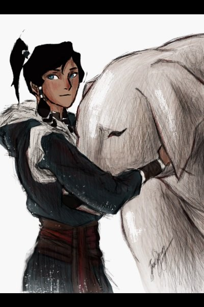 Korra and Naga ~ this was previously on the back of my Ca