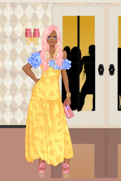 Flutter\'s new dress. ~ How to title. I opened up Evening Gown b