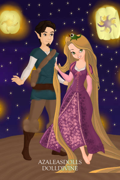 Rapunzel, Flynn, Pascal and the lanterns ~