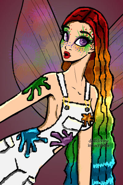 Rainbow fairy painter...Thing. ~ I honestly have no idea what the hell I