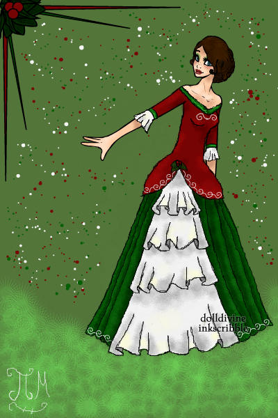 Deck the halls with boughs of Holly... ~ #Christmas #Ballgown #ND