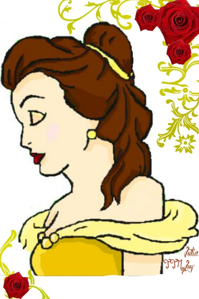 Belle (Drawn on Flockdraw, border added  ~ Sorry about the bad quality.