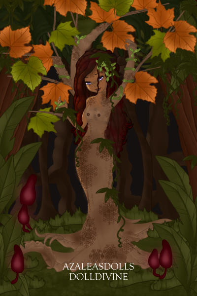 Fall Dryad (For peachmoonbunny) ~ #Request #tree #Nudity #Pixie