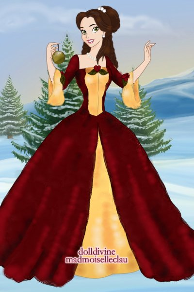 Belle\'s Christmas Gown! ~ #Belle #Disney #Christmas #Princess