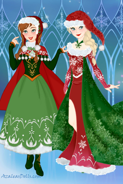 Anna and Elsa\'s Christmas Wear! ~ A re-make of this - https://twitter.com/