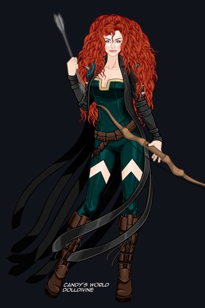 The Phoenix Archer (Merida) ~ Powers: Pinpoint accuracy, agility #Hero