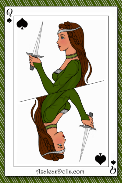 Slytherin, the queen of spades. ~ May do the other house queens when the c
