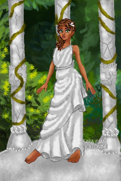 Kena Herring - Gardens - Marble statue ~ So I went with the kind o outfit that a