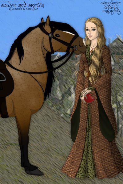 Eowyn and Brytta in Rohan ~