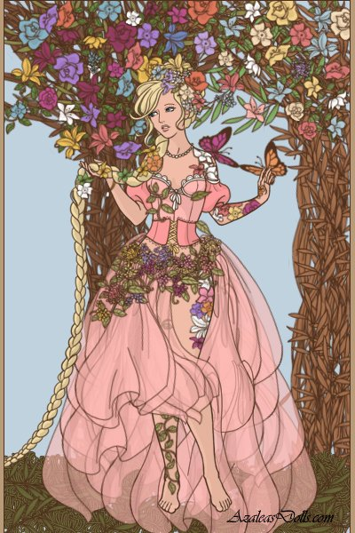 Of Long Hair ~ #Rapunzel #Flowers