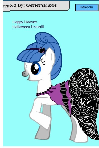 Happy Hooves Halloween Dress (requested  ~ Here MWP! Sorry about the crappy Paint j