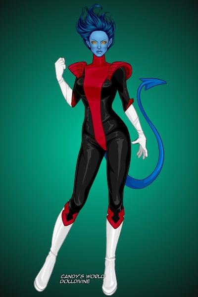 Genderbend Nightcrawler ~ by Thunderpuss X Men Girls Dress Up
