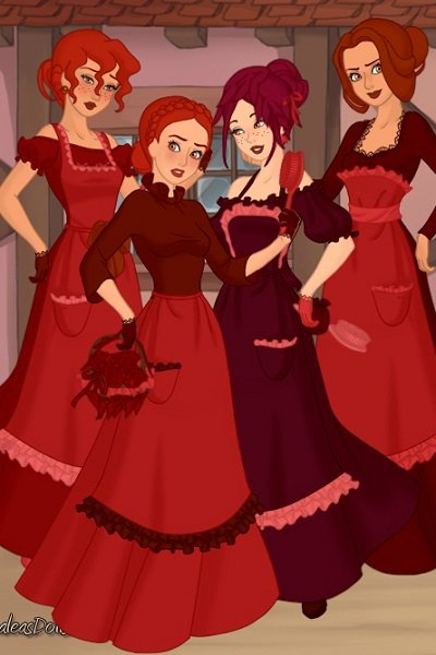 The attendants in Ruby\'s Eye ~ From right to left: Maria, Victoria, Eli