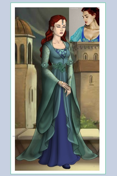 Morgana- S1 - Teal & Violet gown- Photos ~ I decided to mix it up a little; instead
